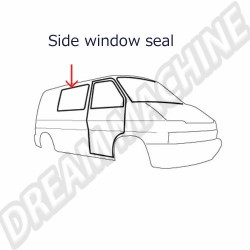 701845521 Joint de vitre arrière gauche ou droit modèle avec portes battantes T4 09/1990-06/2003