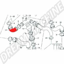 Durite turbo echangeur 2.5 L TDI 05/97-06/03