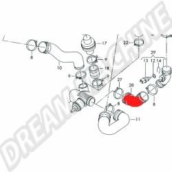 Durite de pression turbo  2.5 L TDI 05/98-06/03