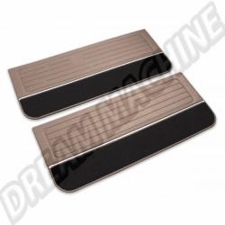 Kit 2 Panneaux de portes avant version deluxe  beige  pour Golf 1, 3 portes