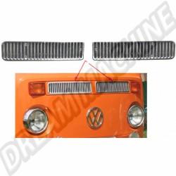 set de 2 couvres grille de ventilation avant chromée T2 8/72-7/79