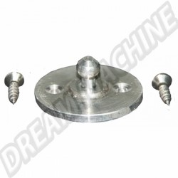 Bouton aluminium de blocage table pliante avec 2 vis Westfalia 8/73-7/79