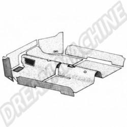 Kit moquette gris 7 pièces cabriolet 58---->>7/68