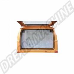 Moustiquaire de hayon arrière avec pourtour marronpour Combi Westfalia 8/63-79