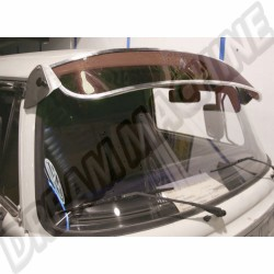 Casquette de pare brise, pare-soleil aluminium et plexiglass fumée 8/1967-7/1979