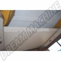 Bandeau plastique blanc de finition de planche de lit sous toit levant, 108x9cm Westfalia 8/1973-7/1979