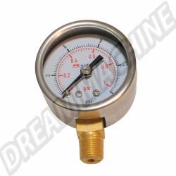 """Manomètre de pression d'essence pour filtre à essence régulateur """"KING"""""""