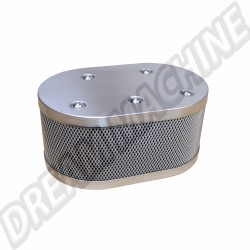 Filtre à air ovale  INOX pour carburateur Weber IDF / Dellorto / HPMX Vintage Speed Grille style KNECHT.315-IDF-00211  | Dream-Machine.fr