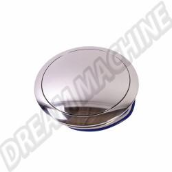 Bouton de klaxon alu poli pour moyeu SSP 9 vis