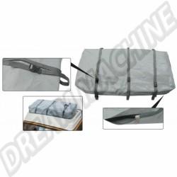 Sac en PVC gris à zip pour galerie avec 3 sangles Combi 08/74-->