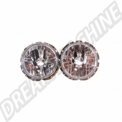 Phares H4 Miroirs Fumés pour Golf 1, Cox & Combi 74-> VW | Dream-Machine.fr