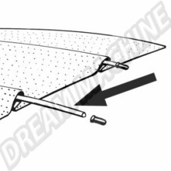Baleine de ciel de toit l'unité 113867549C 113 867 549 C | Dream-Machine.fr