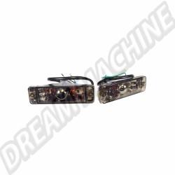 Clignotant de pare-choc glace Cristal fume vitre plate (avec marquage CE) Golf 1 et Golf 2 171953055 VW | Dream machine
