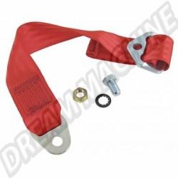 Extension de ceinture de sécurité Homologuée de couleur rouge