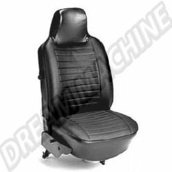 Housses de siège av + ar vinyl noir cabriolet 74-->76 avec appuie tête