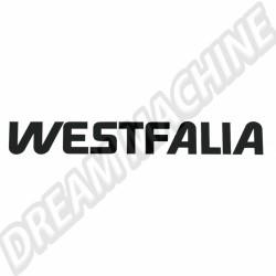 Autocollant Westfalia noir Type 2 68-79 et Transporter 79-92