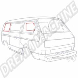 Joint de vitre latérale arrière sans jonc Transporter 80-92