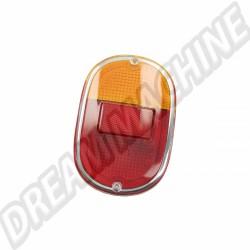 Cabochon de feu arrière orange / rouge avec entourage chromé Combi 62-->71