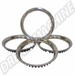 "Cercles de roue Inox 15"" les 4"