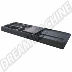 Tablette de rangement en plastique noire Transporter 79-92