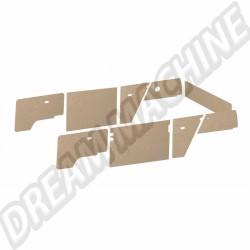 DM18352 Kit 9 panneaux intérieurs MDF et clips Transporter 05/79-->07/84