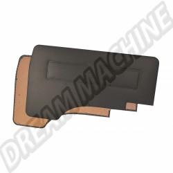 251867015T Kit 2 panneaux de porte vinyl noir Transporter 05/79-->07/92