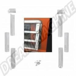 Kit de 8 protections alu de fenêtre jalousie  Vendu avec visserie en inox