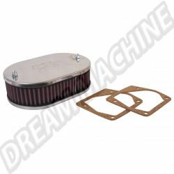 Filtre à air ovale K&N  pour carbu 32/34 DMTL > Golf 1 | Dream Machine