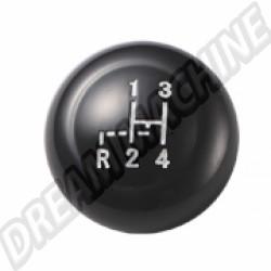Pommeau de levier de vitesse noir diam 7mm 61-->67