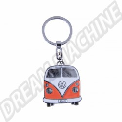 Porte clés Combi orange avec sa boite en métal
