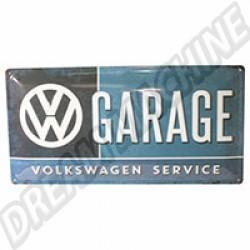 Plaque métal Garage VW