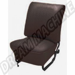 Housses de siège av + ar  vinyl noir cabriolet 68--->72  sans appuie tête
