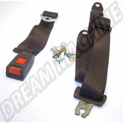 Ceinture de sécurité arrière ventrale 2 points homologuée