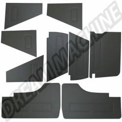Kit de 9 panneaux avant et arrière en vinyl noir Transporter DM18760 sur dream-machine.fr