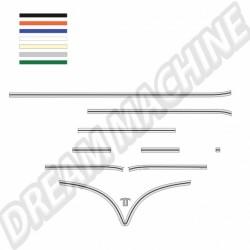 Kit baguettes Combi split Deluxe porte latérale coulissante
