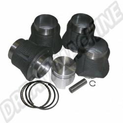 Kit cylindrée 2056cc pistons plats 96mm pour moteur Type 4 2000cc