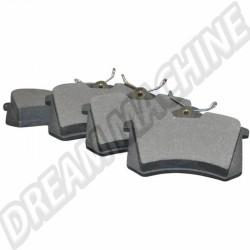 Jeu de plaquettes de frein arrière 15,20mm pour disques 226x10mm 1H0698451E 1H0 698 451E  | dream-machine.fr