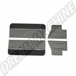 Kit 4 Panneaux de portes version deluxe  noir pour Golf 1, 3 portes