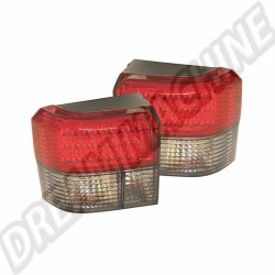 Kit de 2 feux arrière à LED rouge et fumé transporter T4 90-->2003