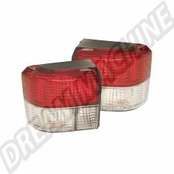 Kit de 2 feux arrière à LED rouge et cristal transporter T4 90-->2003