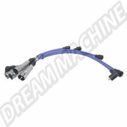 Fils de bougies qualité compétition 8mm Magnecor de couleur bleue pour moteur 1800cc 8 soupapes   DM998M40486 Dream machine