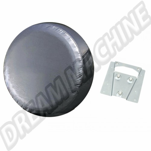 Support et housse de roue de secours vinyl noir Combi 00-4219-0 Sur www.dream-machine.fr