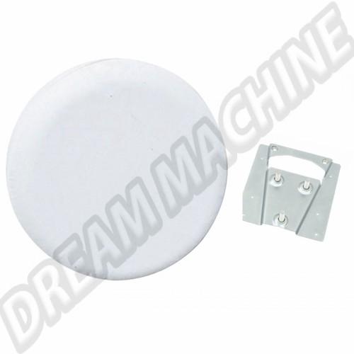 Support et housse de roue de secours vinyl blanc Combi 00-4220-0 Sur www.dream-machine.fr