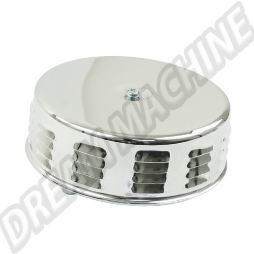 Filtre à air chromé à louvers pour carburateur Solex 00-8674-0 Sur www.dream-machine.fr