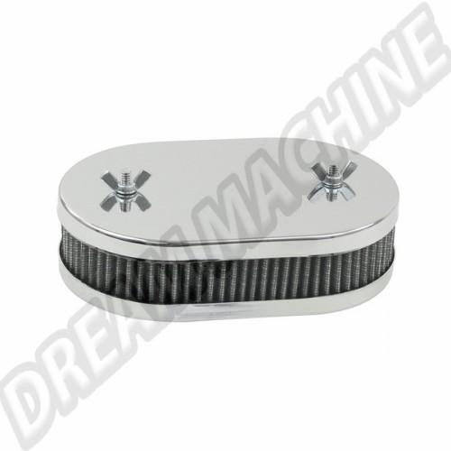 Filtre à air ovale carbu dbl corp weber 40/42 dcnf 45mm 00-8726-0 Sur www.dream-machine.fr