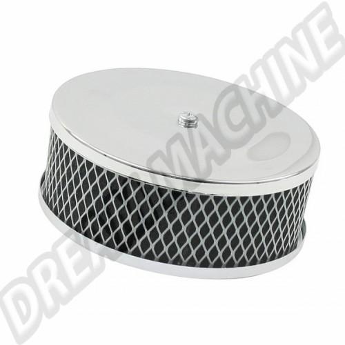 Filtre à air chromé camembert pour carburateur solex 28/30/31/34 00-9121-0 Sur www.dream-machine.fr