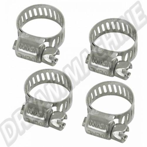 Colliers de serrage inox durite essence diamètre 8mm. les 4 AC1279224 Sur www.dream-machine.fr