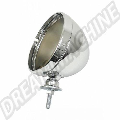"Phare chromé 7"" pour buggy sans optique 00-9307-7 Sur www.dream-machine.fr"