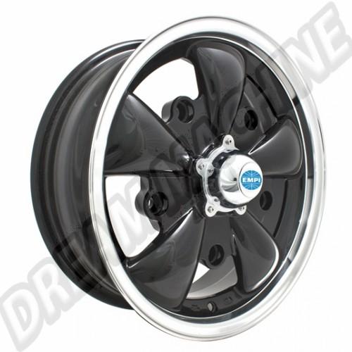 Jante Empi GT-5 noire et polie 5.5x15 5 trous 5x205 00-9690-0 Sur www.dream-machine.fr