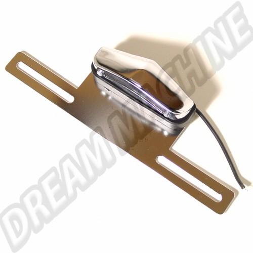 Eclairage de plaque arrière chromé 00-9457-0 Sur www.dream-machine.fr